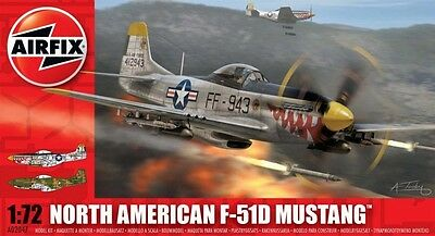 Airfix 1:72 North American F-51D Mustang #A02047 Plastic Model Kit