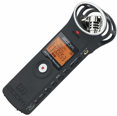 F/S NEW ZOOM handy recorder H1 MB Matt Black ver.2.0 Linear PCM Audio from JAPAN