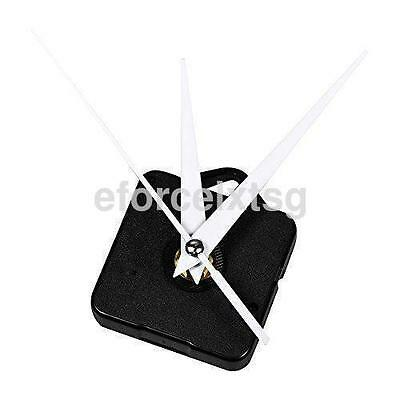 White Hands Silent Torque Quartz Clock Movement Motor Kit For DIY Wall Clock US