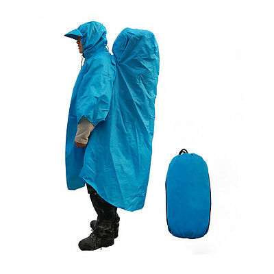 New Outdoor Camping Hiking Backpack Rain Cover One-piece Raincoat Poncho Cape