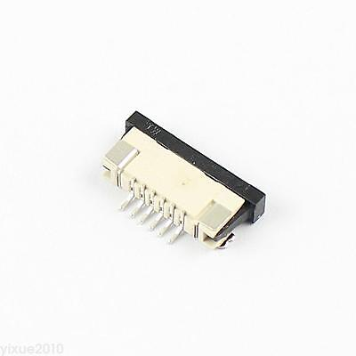 100Pcs FPC FFC 1.0mm Pitch 6 Pin Drawer Type Flat Cable Connector Bottom Contact
