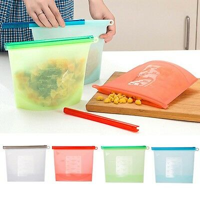 Silicone Fresh Bags Sealing Storage For Home Cooking Food Kitchen Tools Useful