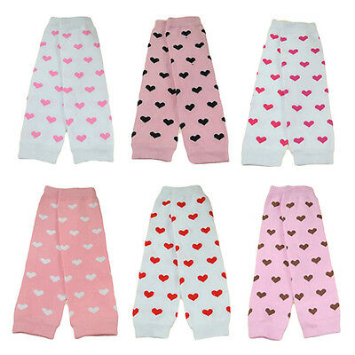 Fashion Baby Toddler Kid Girl Pink Hearts Socks Tights Arm Leg Warmers