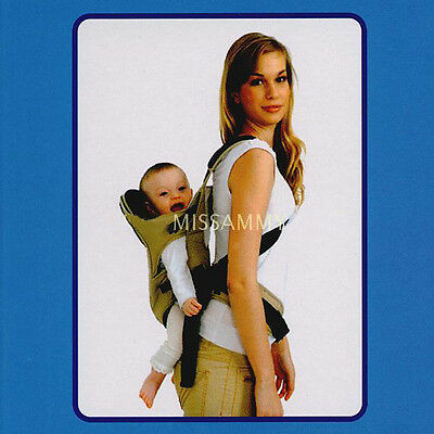 Beige Baby Carrier Newborn Babies Cotton Wrap Front Back Infant Comfort Backpack