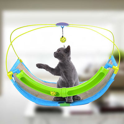Pet Cat Kitten Hammock Scratching Rocking Roller Ball Seat Cage Bed Cradle House
