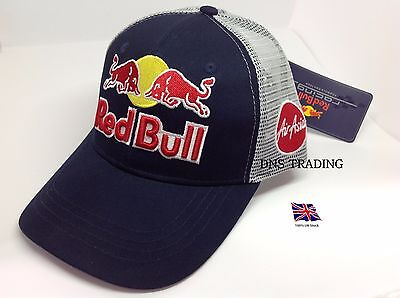 Red Bull Baseball Cap Trucker Breathable Cap Snapback F1 Red Bull Team **RARE***