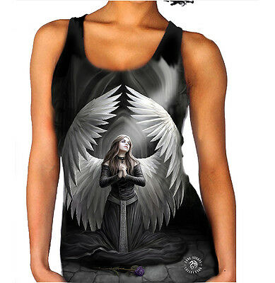 Spiritual Wolf XL5 PROTECTOR Vest Top for Women Sizes XS Anne Stokes