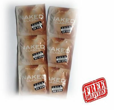 6 Four Seasons Naked Classic Condoms -Safe Sex -FREE DELIVERY