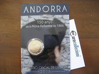Andorra 2016 2 Euro In Official Coincard 150 Years Of The New Reform Of 1866 Bu