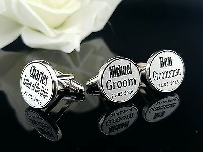 Personalised Wedding Cuff Links for Grooms Party