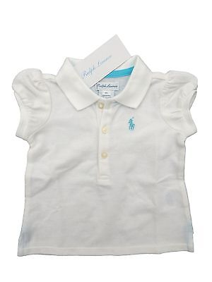 Baby Girl RALPH LAUREN white SS POLO TOP 3/6M (68cm) Shirt Blouse BNWT