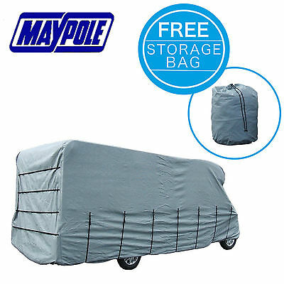 Maypole Motorhome Cover Grey 4-Ply - Fits 7.0 To 7.5m MP9425 With Storage Bag