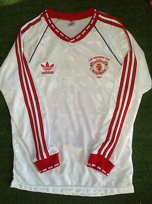 Manchester United 1991 Cup Winners Cup Final Long Sleeve Retro Shirt Large