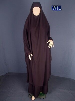Canadian Style - Long Hijab & Skirt - Islamic Clothing Free Size - Dark Brown