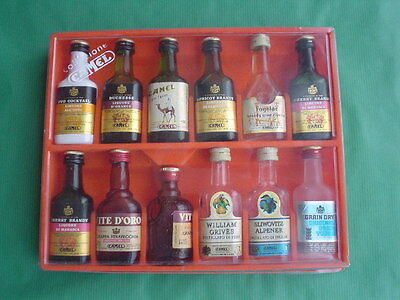 Coffret CAMEL - Complete set containing 12 miniature bottles of alcohol.