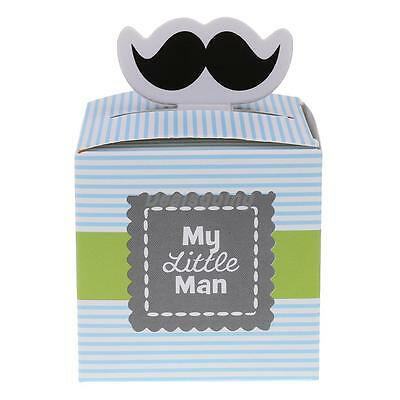 50pcs 'My Little Man' Boys Baby Shower Party Favour Mustache Candy Gift Box
