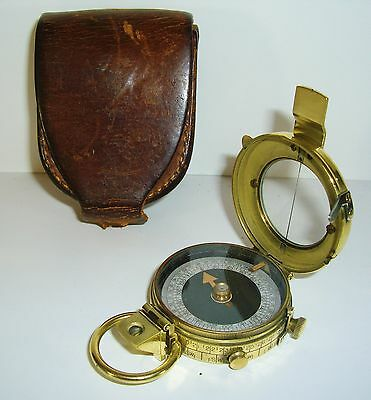 Antique WW1 Army Corps Engenieer's Prismatic Compass 1918