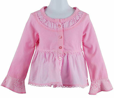Naartjie Kids Lace & Lawn Trimmed Cardigan Sherbet Color Size 7 Yr