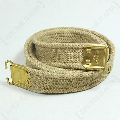 WW1 BRITISH LEE ENFIELD SLING - Repro Rifle Canvas Strap Carrier Army Stamped