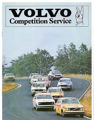 Volvo Competition Service 1977-78 UK Market Sales Brochure 66 343 140 240 Series
