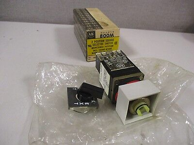 New Allen Bradley 800Ms-Hh2Bla Series C 2 Position Square Selector Switch