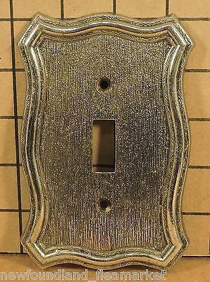 Vintage USED Ornate Metal Switch Face Plate Cover HD#18