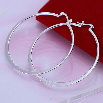 silver Plated Fashion Cute Pretty Hook Lady Earring Jewelry charms women gift