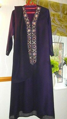 Ladies Kaftan Abaya Long Aline Kameez/dress For Wedding Party Eid Xl