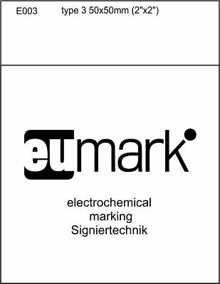"stencil for electrochemical marking etching type 3 50x50mm or 2""x2"" SIGNIERTECHN"
