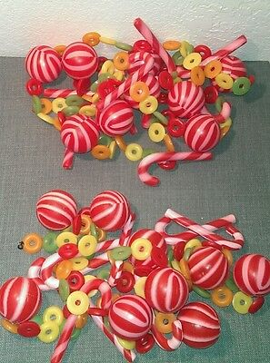 vintage plastic blow mold sugar candy candy cane, 2,links, approx. 187""