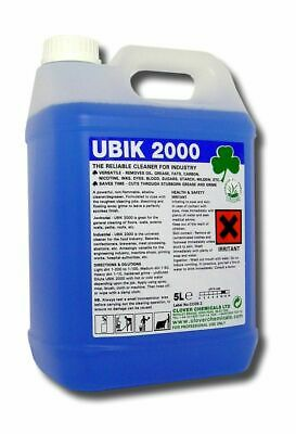 Clover Chemical Ubik 2000 Heavy Duty Industry Kitchen Cleaner Degreaser 5LTR