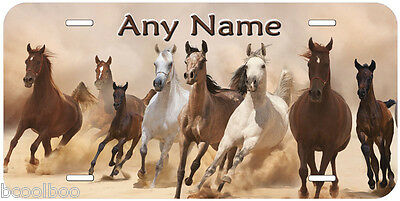 Horses Aluminum Any Name Personalized Novelty Car Auto License Plate P13