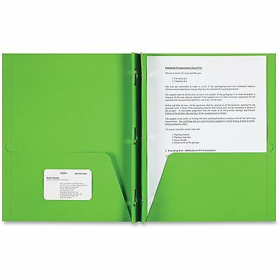 Sparco Products 2-Pocket Folder, 3 Prong, 25/BX, Apple Green 78542