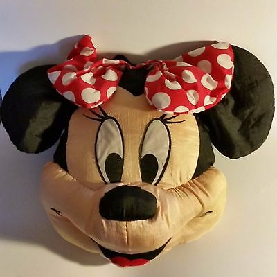 """Minnie Mouse Disney Accent Throw Pillow 12"""" head vintage 1980s"""
