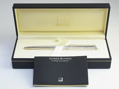 dunhill Gemline Silver Plated Pinstripe Ballpoint Pen with the box MINT