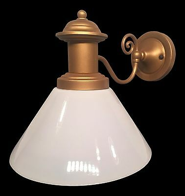 Restored Vintage Bronze and Glass Wall Sconce Light Fixture