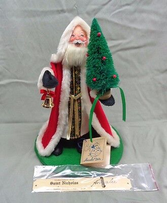 1988 Annalee St Nicholas Christmas #3822 with Signed Plaque NOS