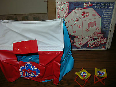 Barbie Camp Out Tent & Chairs only...  in Original Box