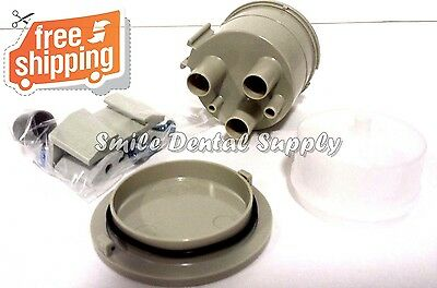 Vacuum Canister Kit, Bracket Mounted Gray Trap Dental DCI#5860