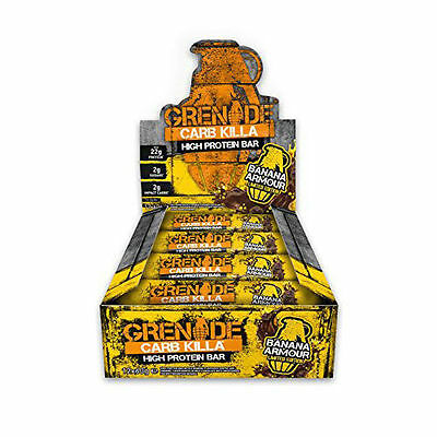 12 x 60g Grenade Carb Killa Bar Protein Bars Low Carb BANANA ARMOUR
