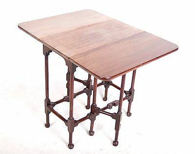 Antique Sutherland Table Mahogany Spider Folding Gateleg Table Side Occasional S