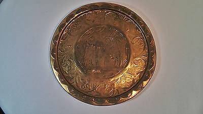 """Unique Brass wall hanging/tray. From Israel - 11"""""""