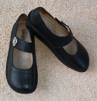 ALEGRIA by PG LITE black Mary Jane style leather upper shoes, Size 38, As New!