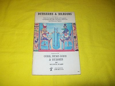 Gods , Demi-Gods & Heroes Supplement Iv 4 Dungeons & Dragons - 2 7Th Print
