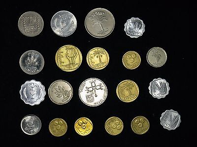 Lot of 20 Israel coins 1/2, 1, 5, 10, 25, 50, 100 Pruta, Lirot