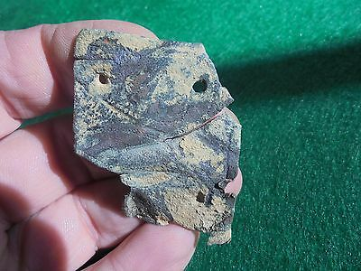 "Superb Roman legionary fragment ""lorica segmentata"" nice decorations, lot. 2"