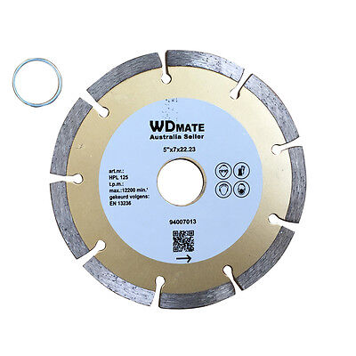 "10x Diamond Cutting Blade 125mm 5"" Dry Segmen Saw Disc 20/22.23mm Build 94007013"