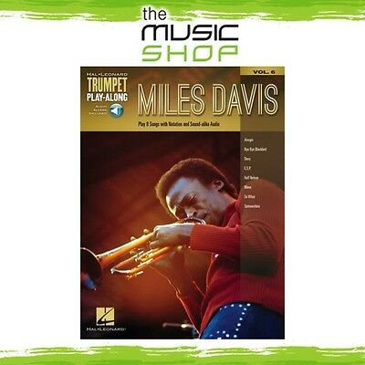 New Miles Davis Trumpet Play Along Music Book & OLA - Volume 6