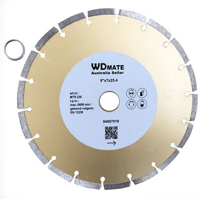 "5x Diamond Cutting Disc Dry 230mm 9"" Segment Saw Blade 25.4/22.23mmTile 94007019"
