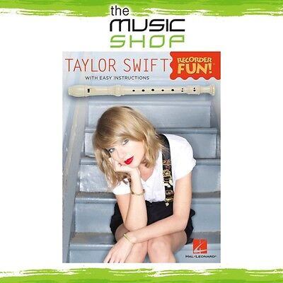 New Taylor Swift Recorder Fun Music Book - EZ Play Notation